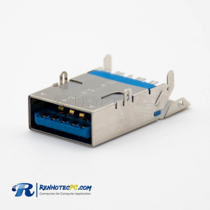 9 Pin to USB3.0 Female Right Angle DIP/SMT Connector