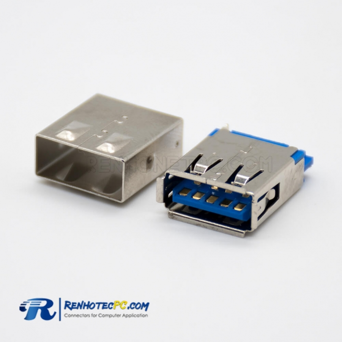 Female USB3.0 9 Pin Straight Female for Cable Connector