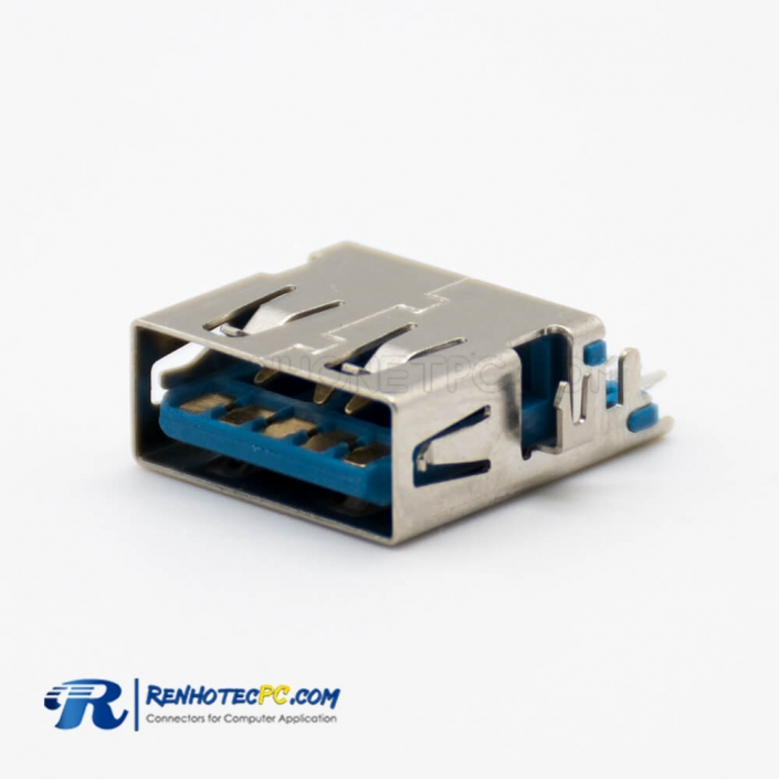 USB 3.0 A Connector Straight 9 Pin Female Offset Type Panel Mount