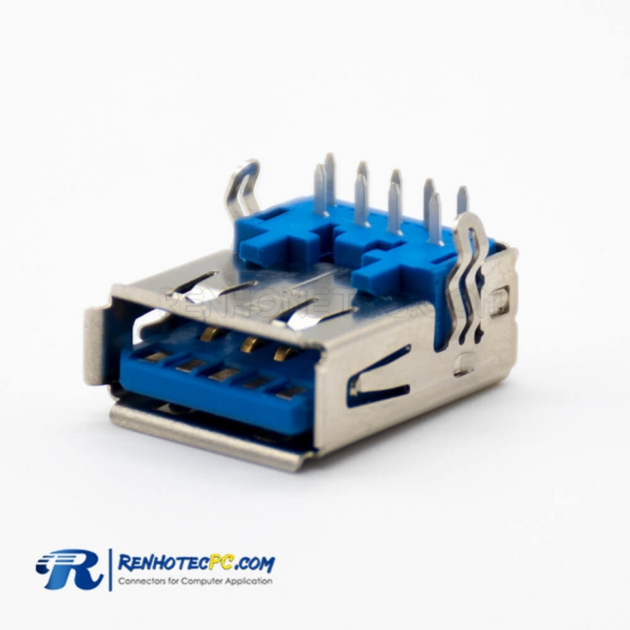 3.0 USB A Connector Right Angle 9 Pin Female DIP Type
