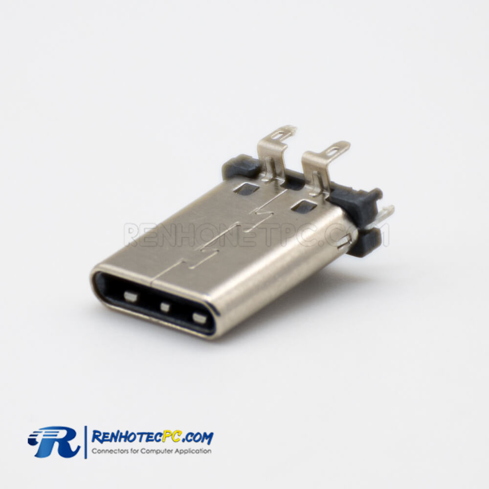 Type C USB Connector 24 Pin Male Straight SMT Type