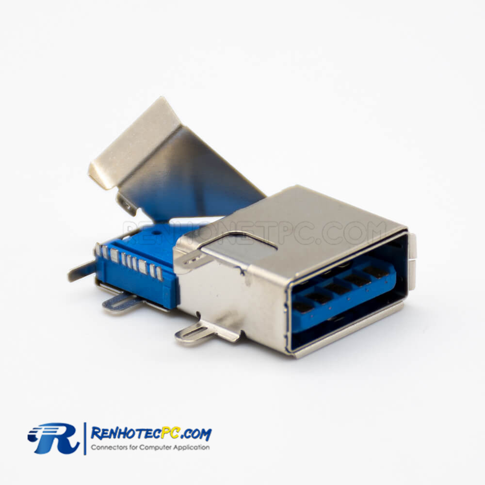 3.0 USB Connector Type A 9 Pin Female Double Metal Shell Panel Mount