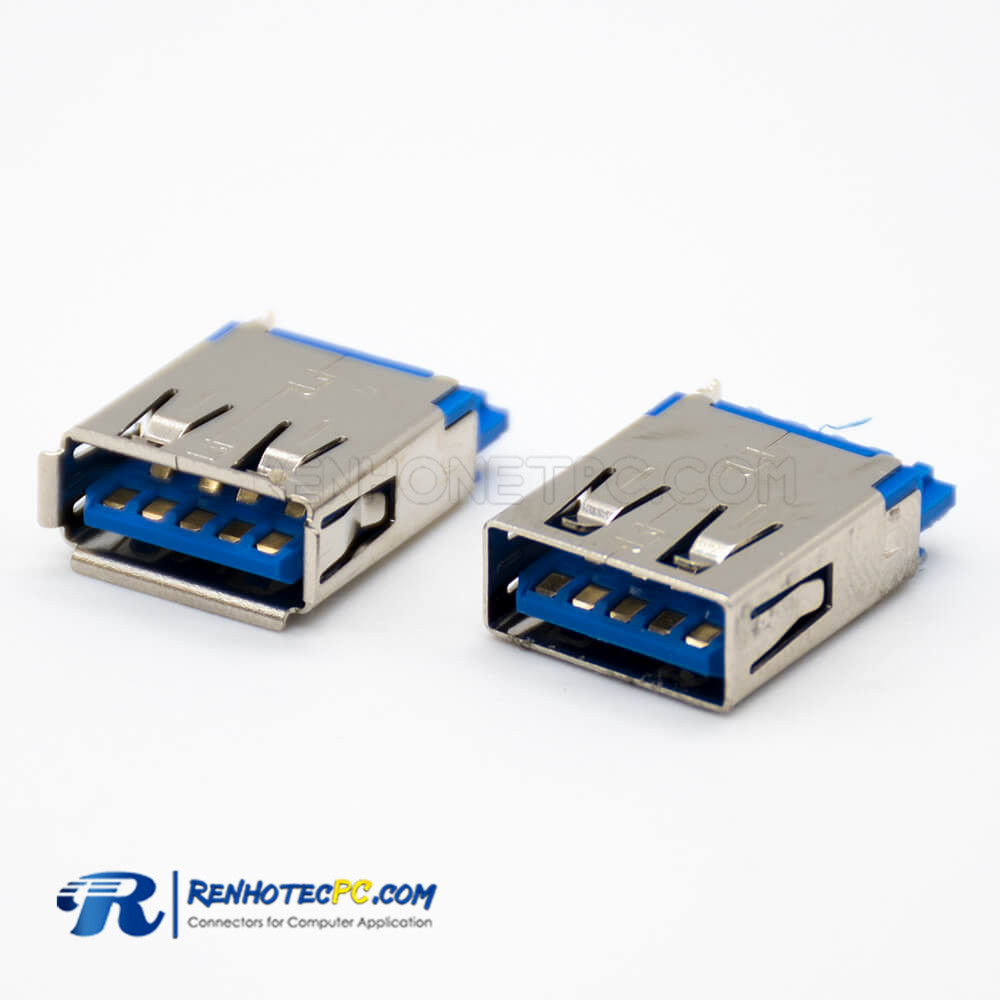 USB Female Connector 3.0 9 Pin Solder Type A Straight SMT Type