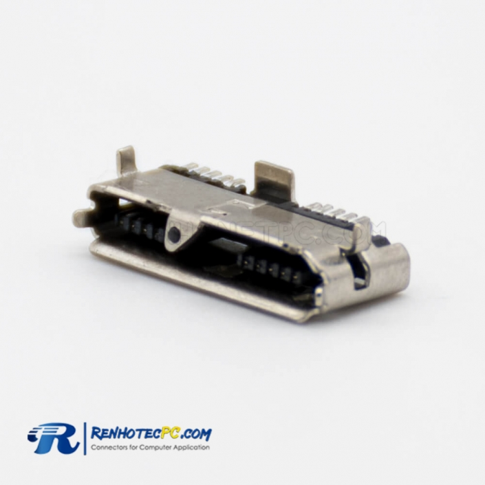 Micro USB Female USB 3.0 Connector PCB Mount