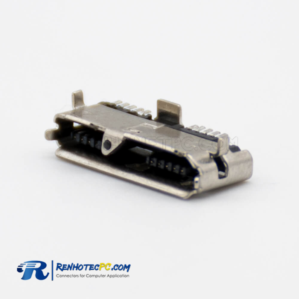 Micro USB Female USB 3.0 Connector PCB Mount