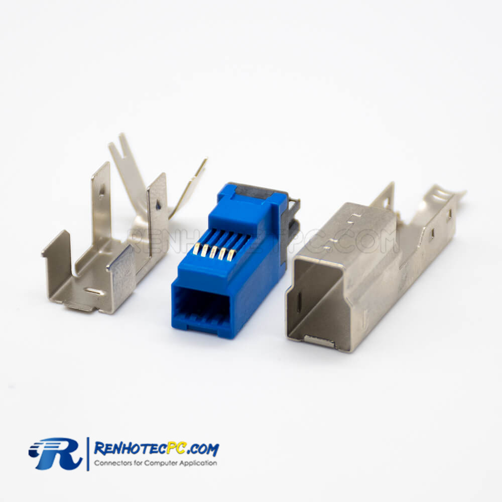 USB B Type Connector Male Straight Combo 3.0 9 Pin Solder Type for Cable
