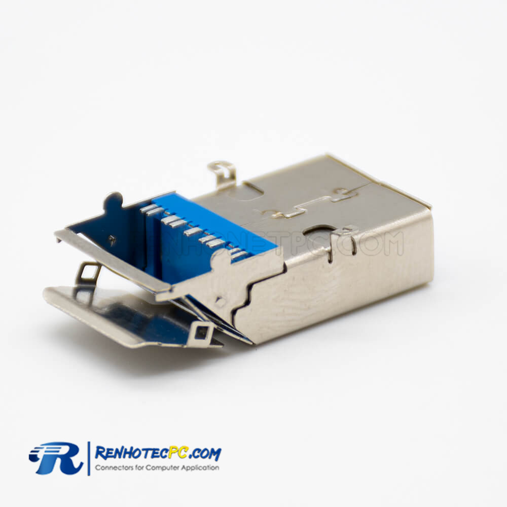 panel mounting USB 3.0 9 Pin Connector SMT Type Double Straight Female DIP Type