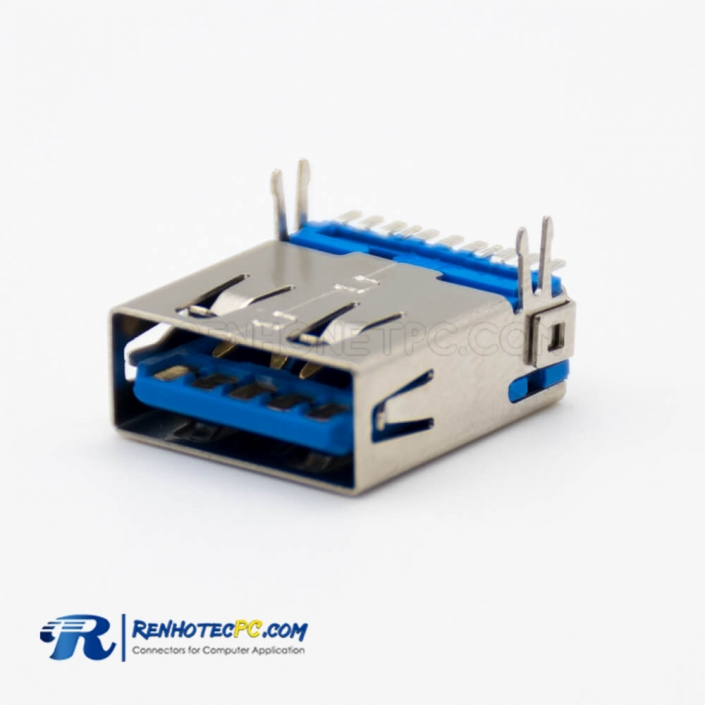 USB type A Connector 3.0 Female 9 Pin SMT Type Straight