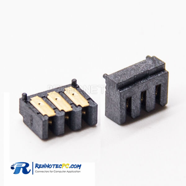 Laptop Battery Connector Socket 3 Pin PH2.0 Female Straight SMT for PCB Mount