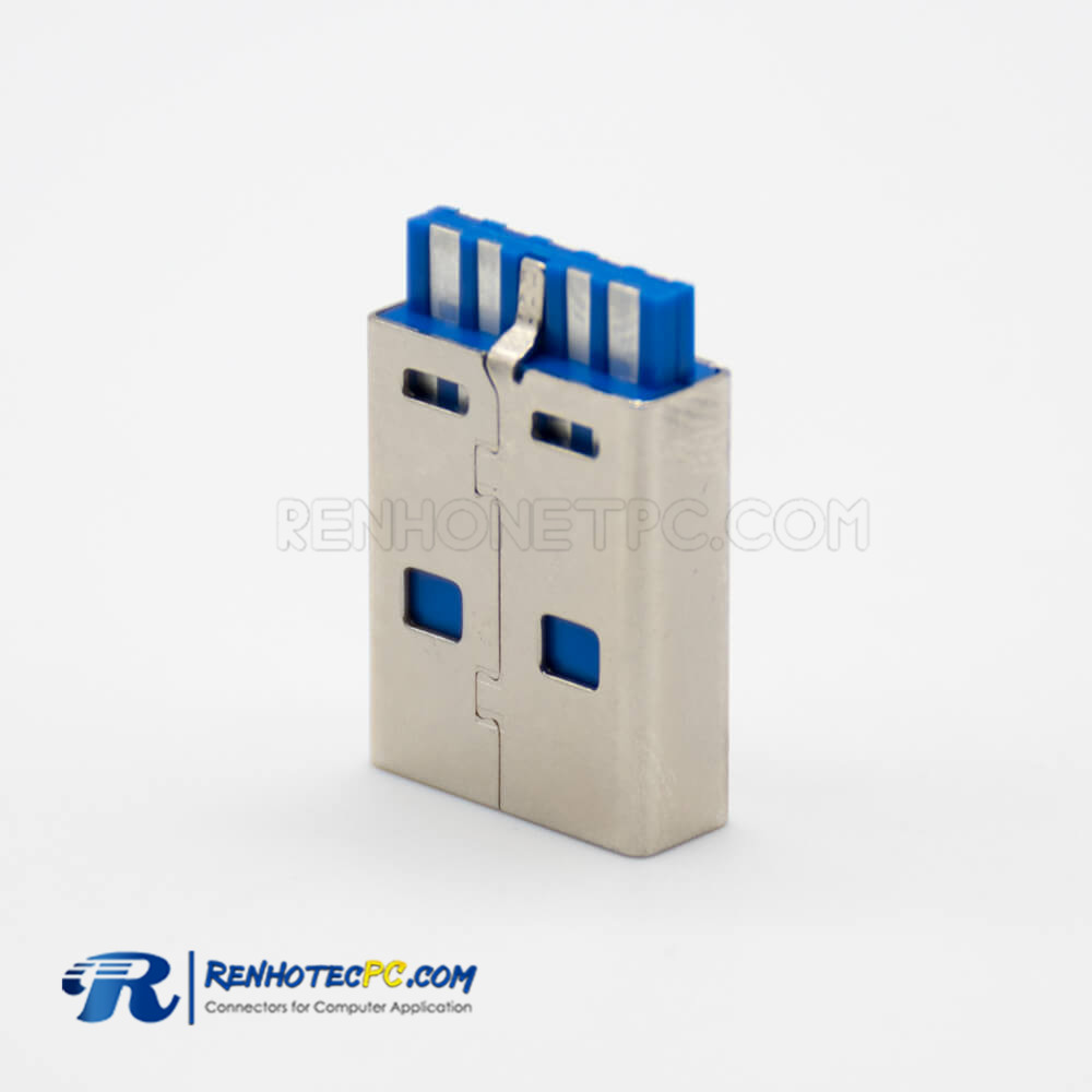 USB type 3 Connector A Male Straight 9 Pin Solder Type