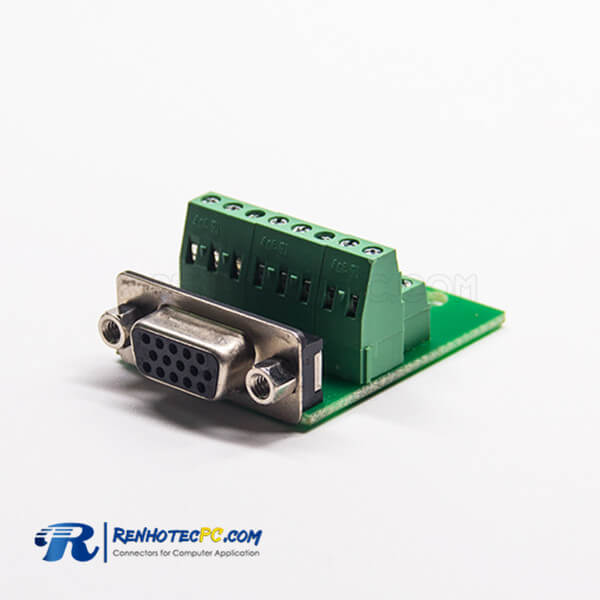 15 Pin D Sub Adapter Female High Density D-Sub Straight to Breakout Board 16Pin
