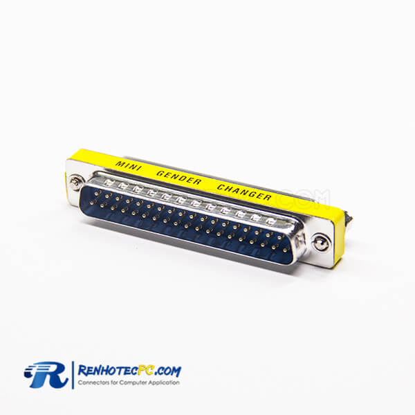 37 Pin Gender Changer To Female Straight Metal Standard D-Sub