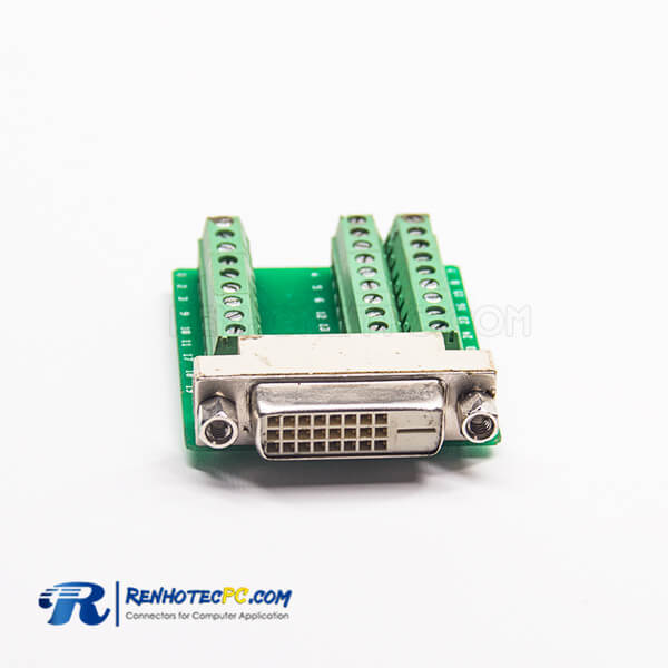 Dvi A Connector Straight 24+1Pin Female Cable Terminal 27 Holes To Straight Breakout Board Adapter