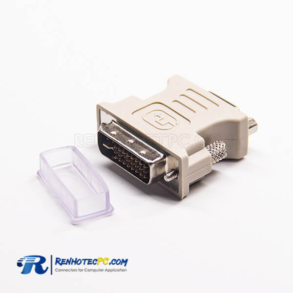 DVI To High Density Adapter 24+5Pin Straight Male To HDB 15Pin Female