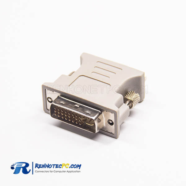 DVI To DB Adapters 24+5Pin DVI Male To High Density D-Sub 15Pin Female 180°