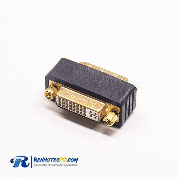 DVI Connectors Types 24+5Pin Male To Female 24+5Pin DVI Straight Short Adapter