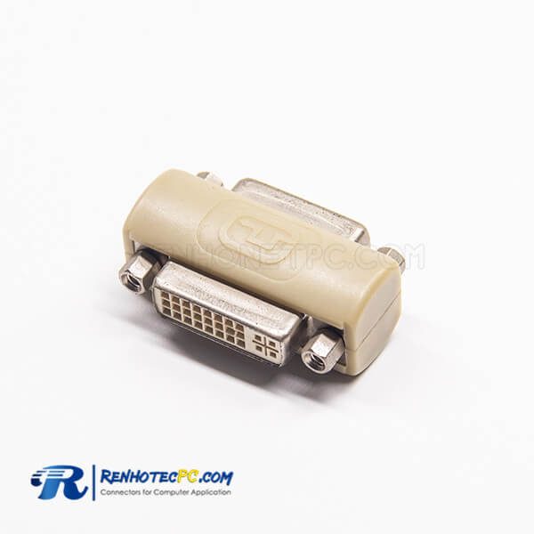 DVI Connector Female 24+5Pin To DVI 24+5Pin Straight Female Super Short Adapter