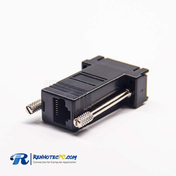 RJ45 To DB9 Female RJ45 To Female Standard D-Sub Straight 9Pin Adapter