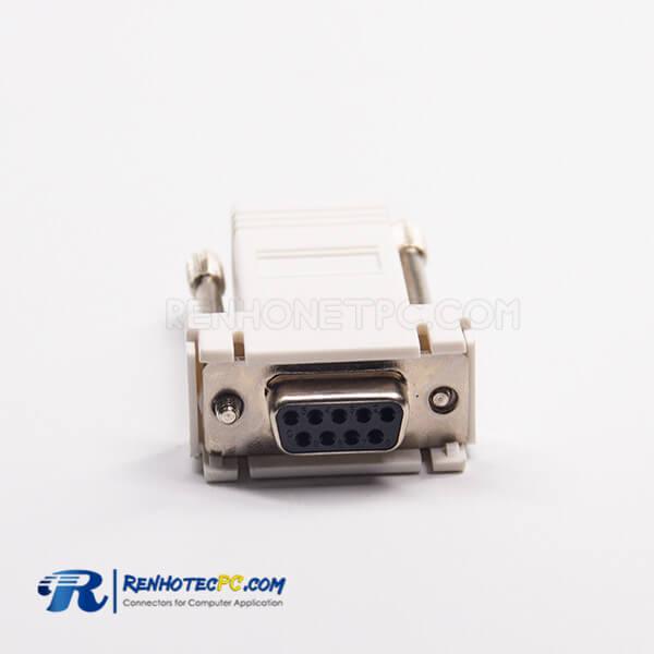 RJ45 To DB9 Female Adapter RJ45 Female To 9Pin Standard D-Sub Straight