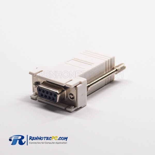 RJ45 To DB9 Female Adapter RJ45 Female To 9Pin Standard D-Sub Straight