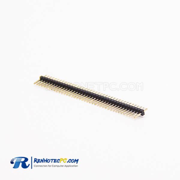 Right Angle Pin Header 1.27mm 1×40 PIN Through Hole Male Single Row