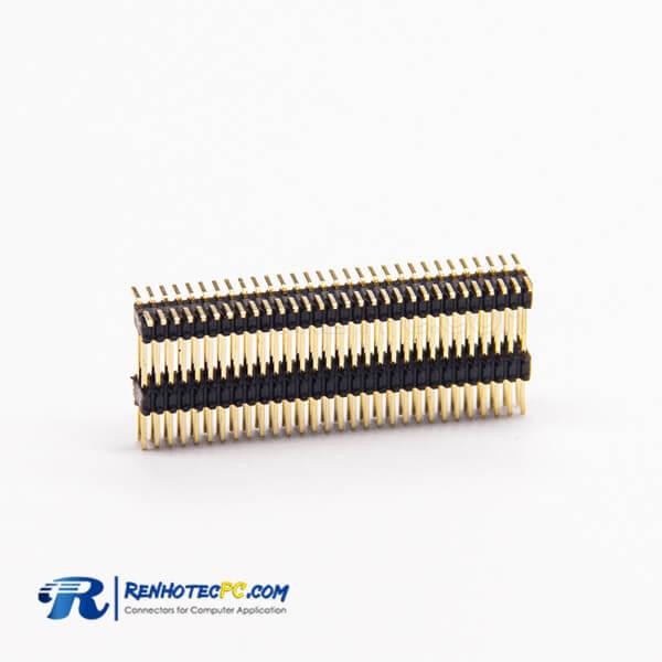 Pin Header Connector 0.8×1.38PH 2×30PIN Dual Row SMT 180 Degree Male