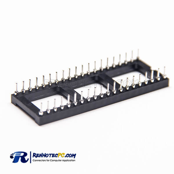 Female Header 40Pin SMT Circular Holes SMT 2.54mm Picth